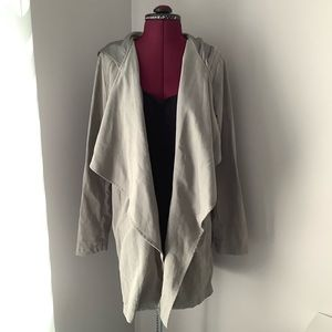 PacSun Jackets & Coats - NWOT PACSUN Gray Suede Hooded Jacket